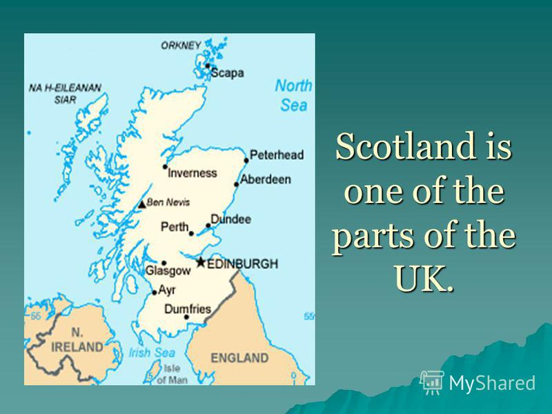 Scotland is one of the parts of the UK.