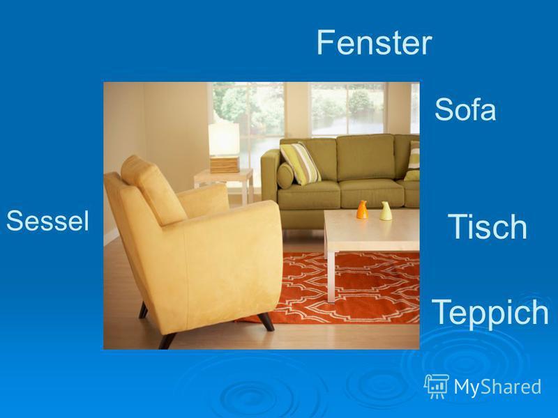 Sessel Sofa Tisch Fenster Teppich