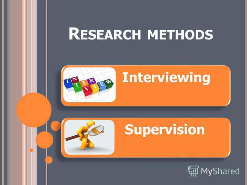 R ESEARCH METHODS Interviewing Supervision