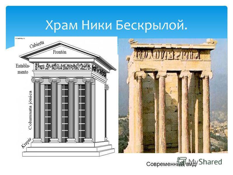 Храм Ники Бескрылой. Современный вид