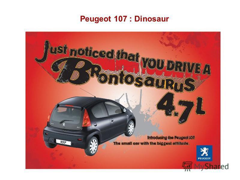 Peugeot 107 : Dinosaur