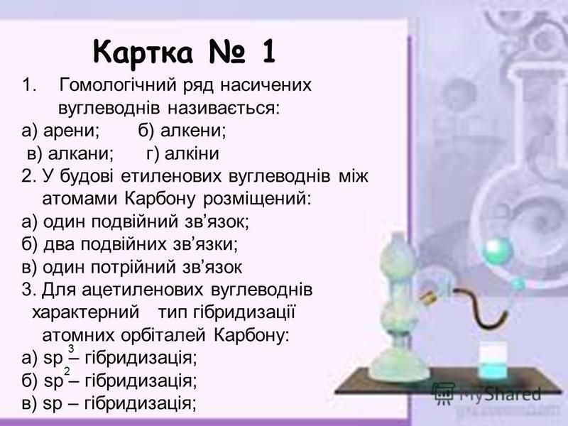 Картки контролю знань