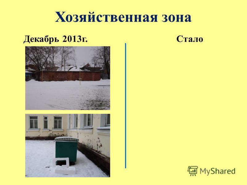 Хозяйственная зона Декабрь 2013 г.Стало