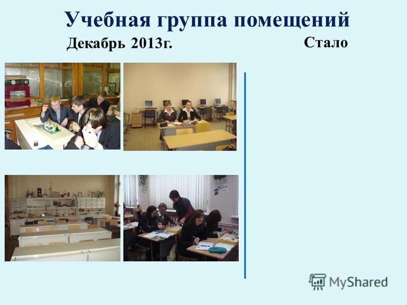 Учебная группа помещений Декабрь 2013 г. Стало
