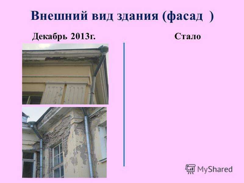 Внешний вид здания (фасад ) Декабрь 2013 г.Стало