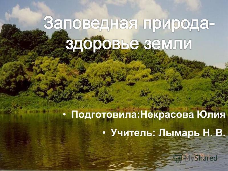 Подготовила:Некрасова Юлия Учитель: Лымарь Н. В.
