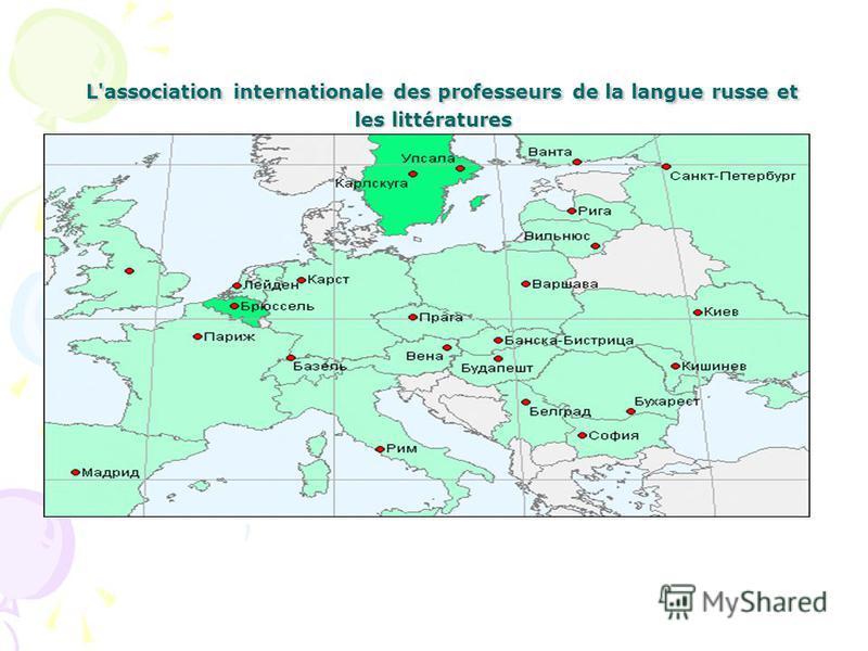 L'association internationale des professeurs de la langue russe et les littératures L'association internationale des professeurs de la langue russe et les littératures