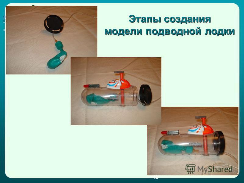 Этапы создания модели подводной лодки 12