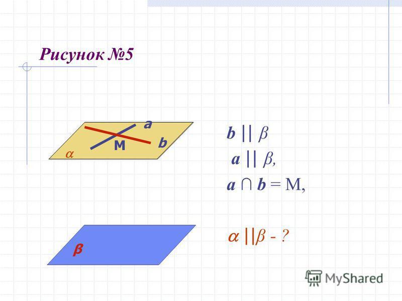 Рисунок 5 b || β a || β, a b = M, || β - ? a β a b M