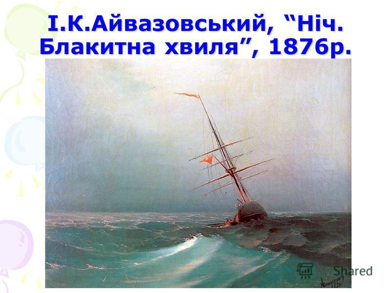 І.К.Айвазовський, Ніч. Блакитна хвиля, 1876р.