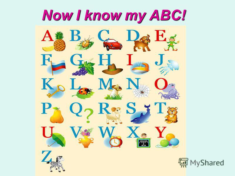 Now I know my ABC!