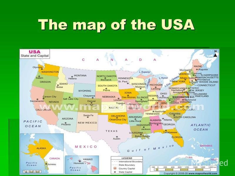 The map of the USA The map of the USA