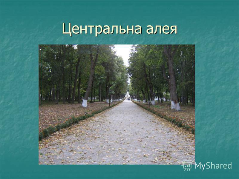 Центральна алея