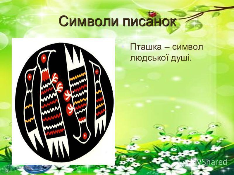 Символи писанок Пташка – символ людської душі.