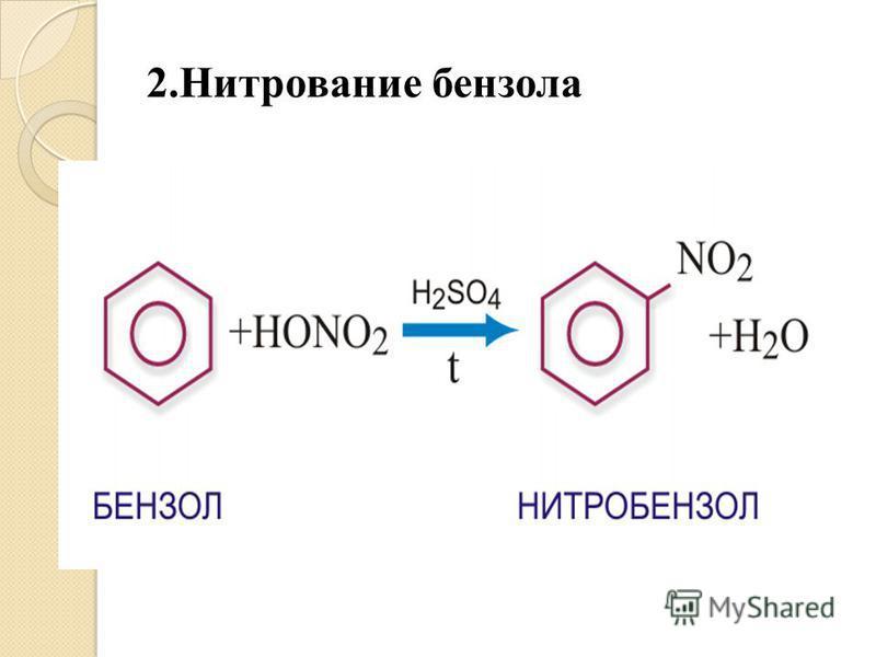 2. Нитрование бензола