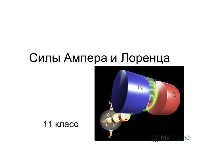 Силы Ампера и Лоренца 11 класс