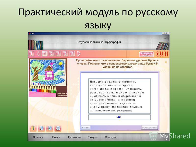 Практический модуль по русскому языку