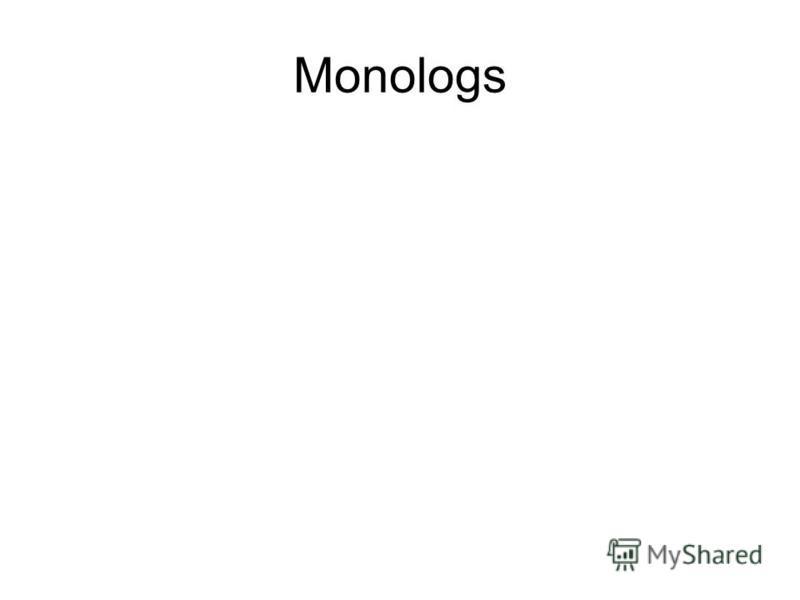 Monologs