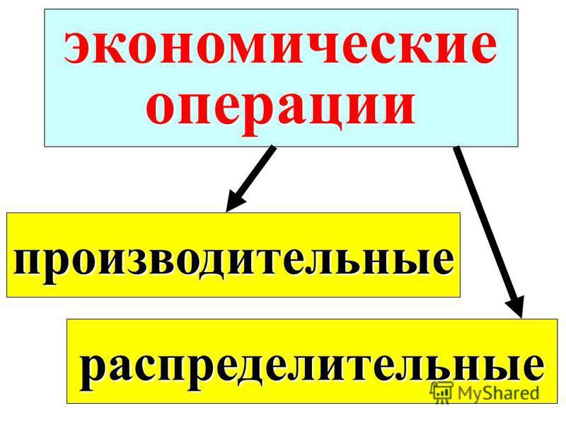 экономические операции производительные распределительные