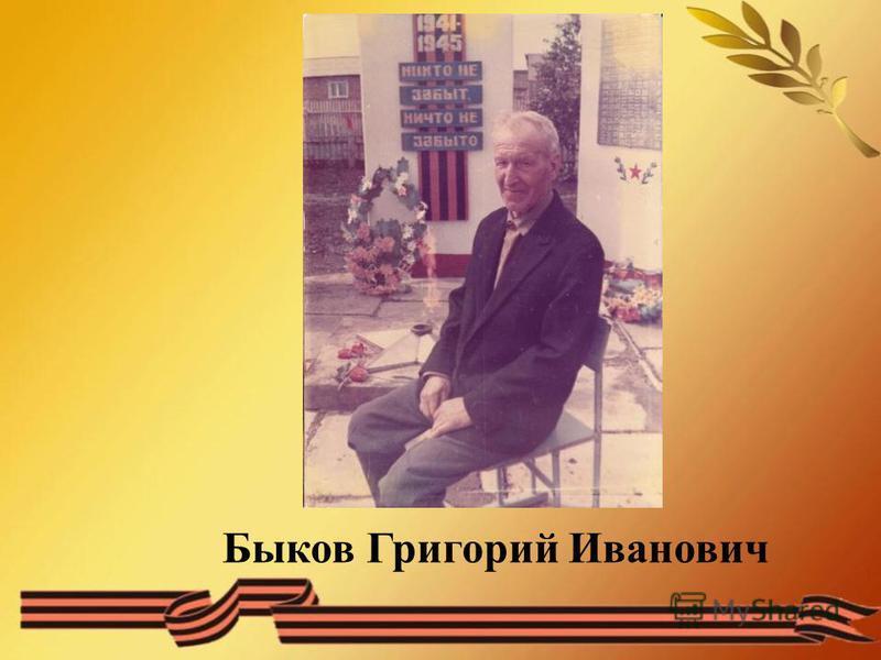 Быков Григорий Иванович