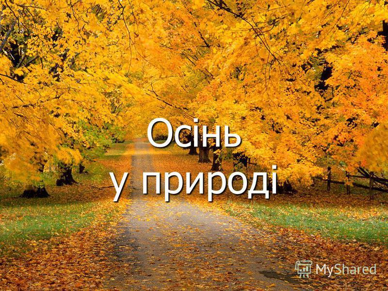 Осінь у природі
