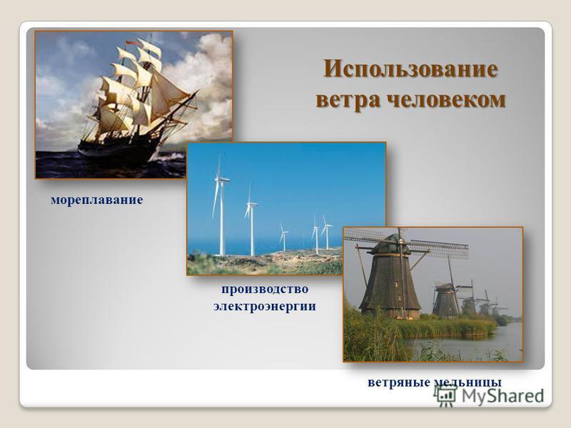 Использование ветра человеком мореплавание производство электроэнергии ветряные мельницы