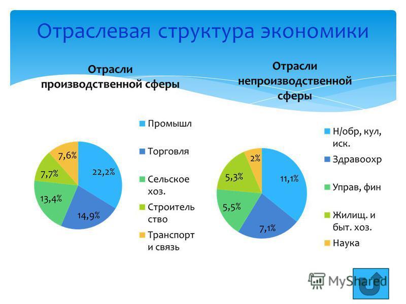 Отраслевая структура экономики