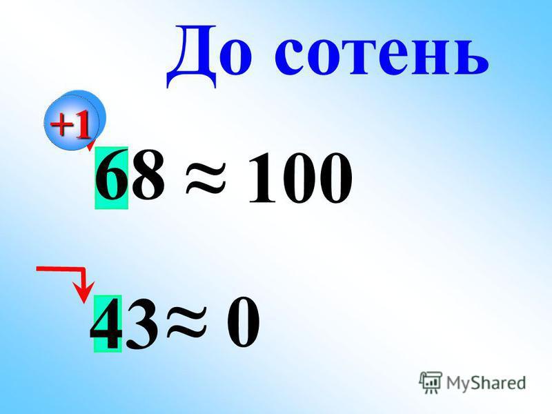 43 68 100 0 До сотень+1+1