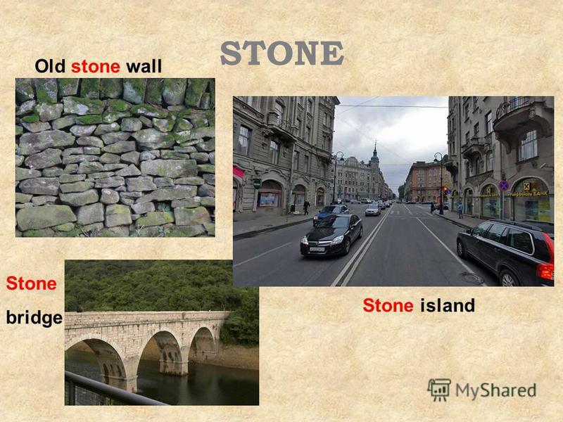 STONE Old stone wall Stone bridge Stone island