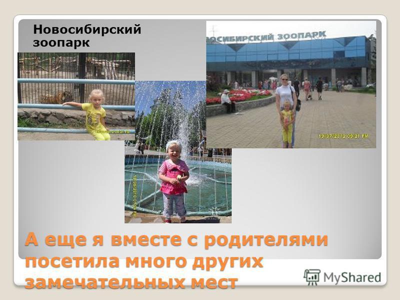 А еще я вместе с родителями посетила много других замечательных мест Новосибирский зоопарк