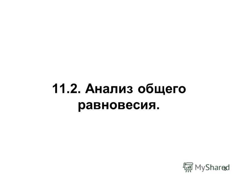 8 11.2. Анализ общего равновесия.