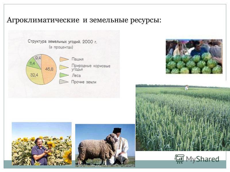 Агроклиматические и земельные ресурсы: