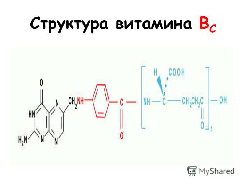 Структура витамина B C