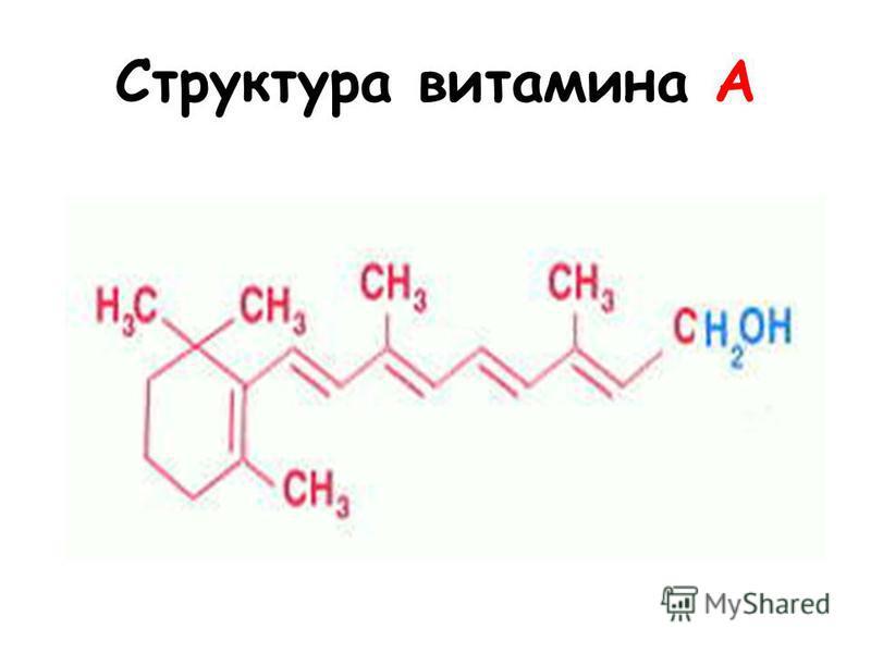 Структура витамина А