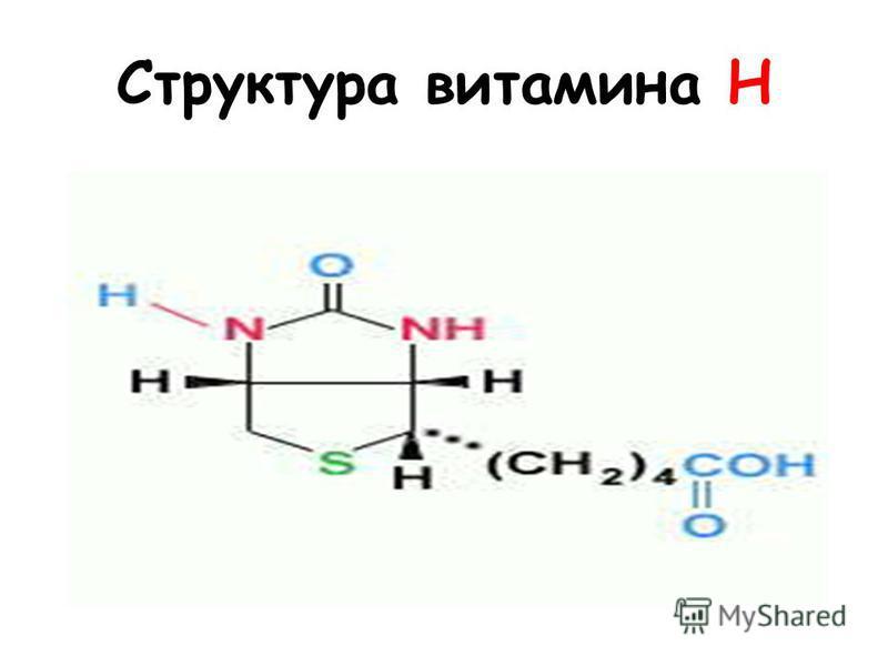 Структура витамина H