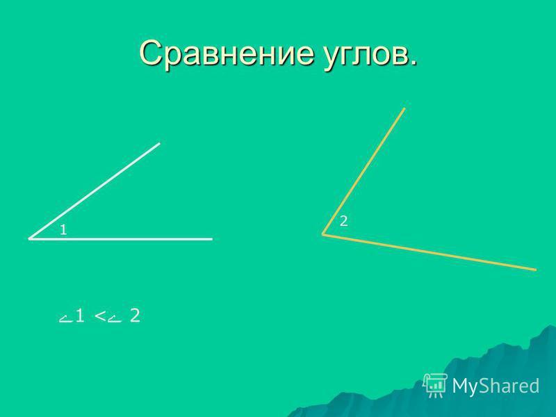 Сравнение углов. 1 2 ے1 <ے 2ے1 <ے 2