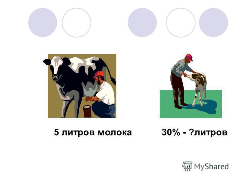 5 литров молока 30% - ?литров