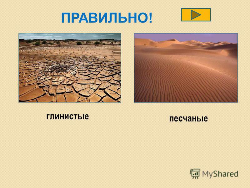 ПРАВИЛЬНО! глинистые песчаные