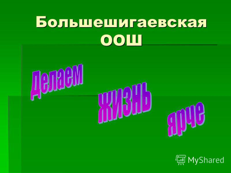 Большешигаевская ООШ