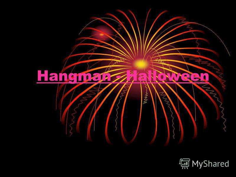 Hangman - Halloween