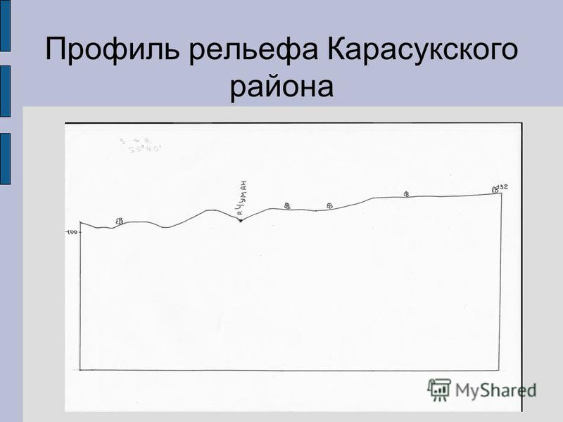 Профиль рельефа Карасукского района