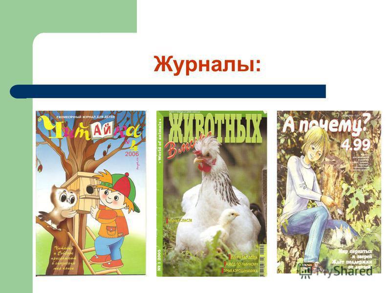 Журналы: