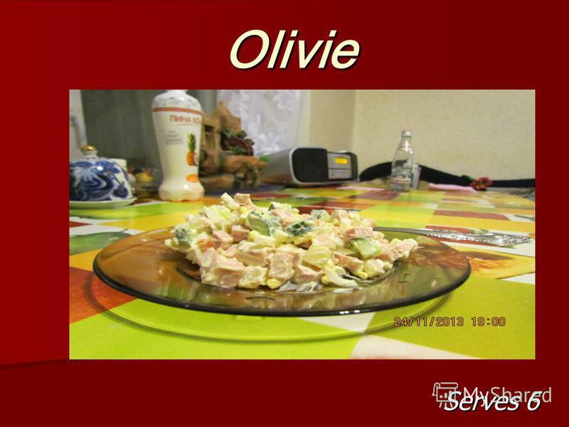 Olivie Serves 6