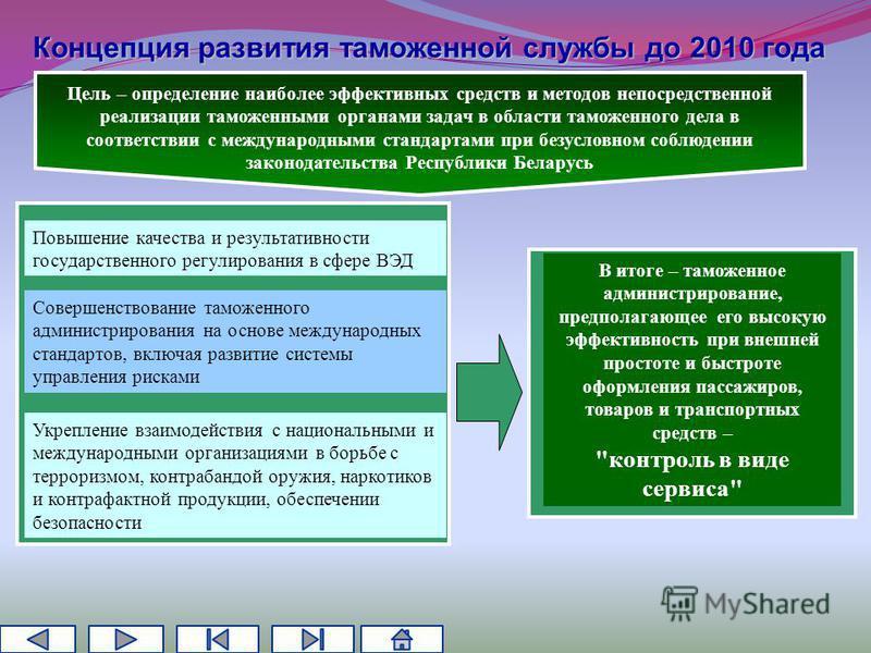 Цель – определение наиболее эффективных средств и методов непосредственной реализации таможенными органами задач в области таможенного дела в соответствии с международными стандартами при безусловном соблюдении законодательства Республики Беларусь Со