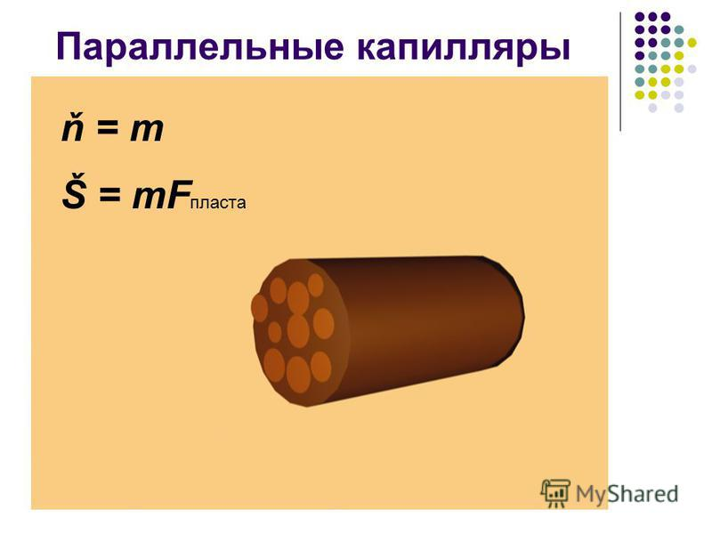 Параллельные капилляры ň = m Š = mF пласта