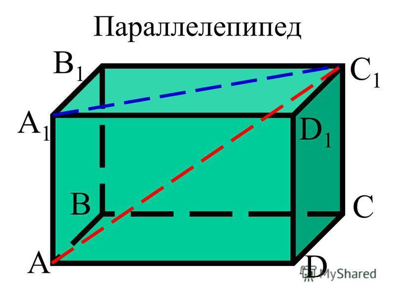 Параллелепипед А В С D А1А1 В1В1 С1С1 D1D1