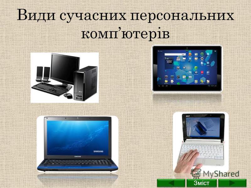 Види сучасних персональних компютерів Зміст