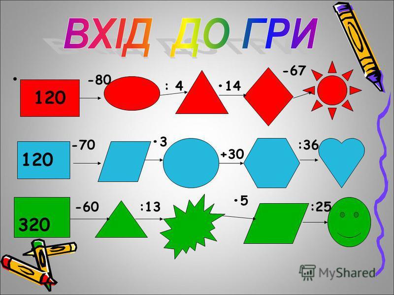 120120 -80 : 414 -67 120 -70 3 +30 :36 320 -60:13 5 :25
