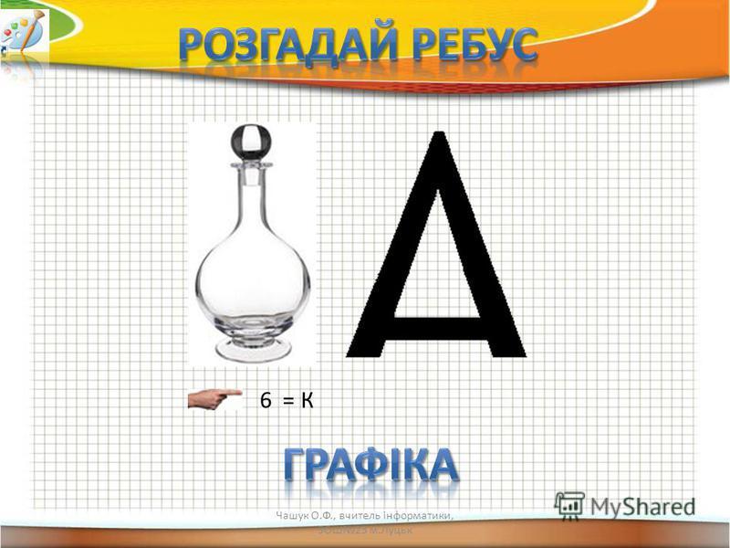 6 = К Чашук О.Ф., вчитель інформатики, ЗОШ23 м.Луцьк