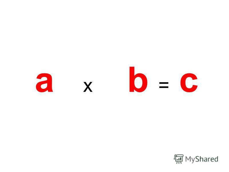 a x b = c